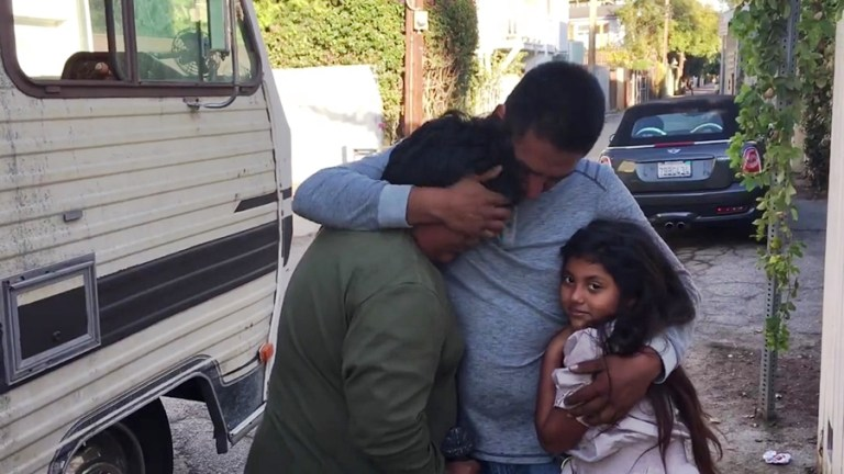 Homeless family receives help
