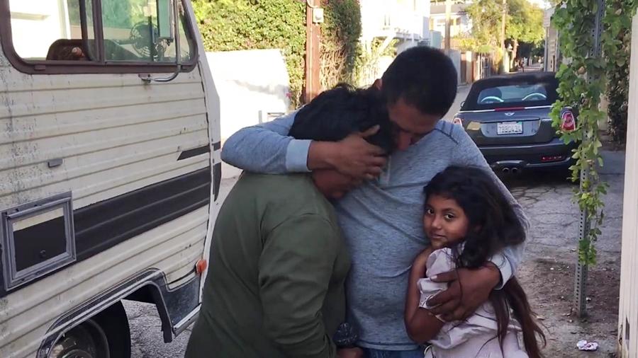 Homeless family receives help