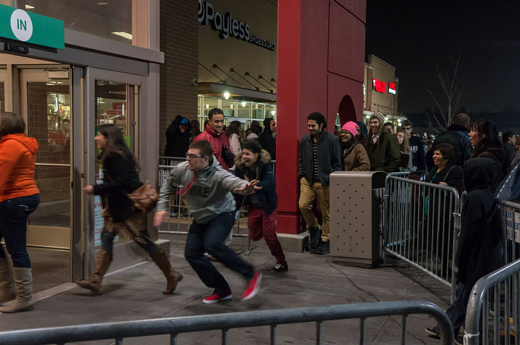 Police weren't dealing with crazed shoppers - Source: Wikimedia