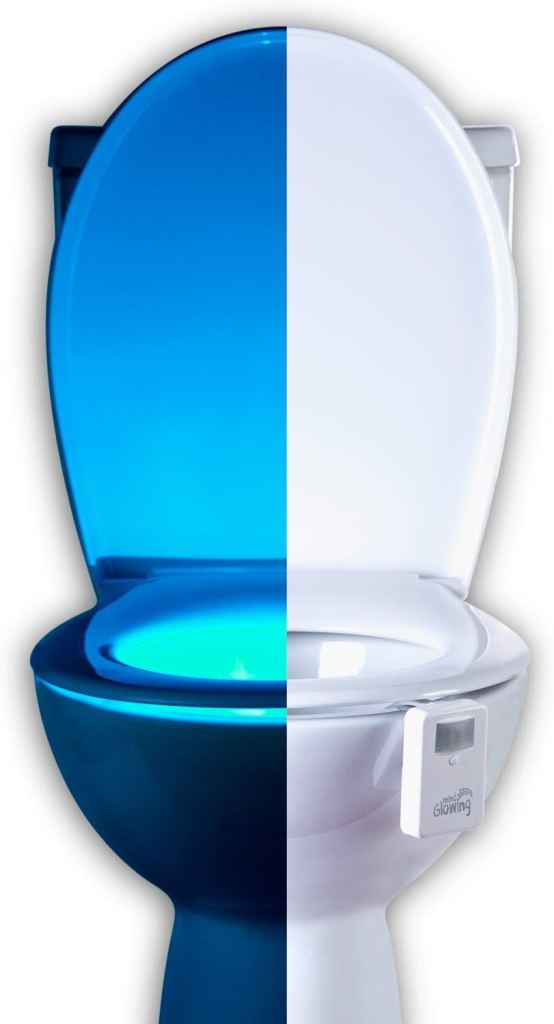 16 Color Motion Sensor Toilet Bowl Night Light for Christmas stocking filler