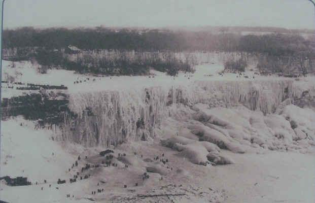 A FROZEN Niagara Falls-Winter 1911