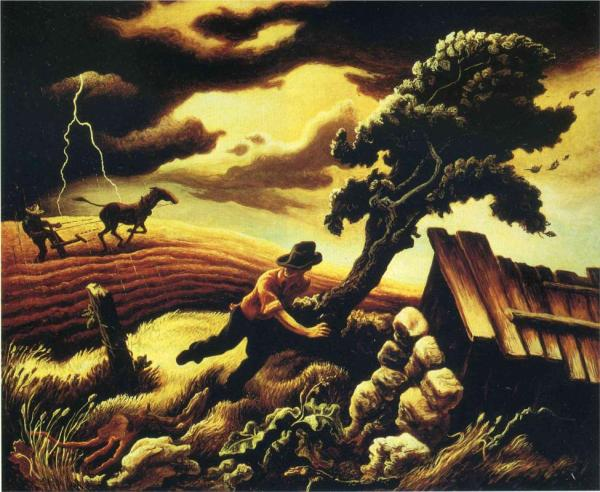 Painting by Thomas Hart Benton