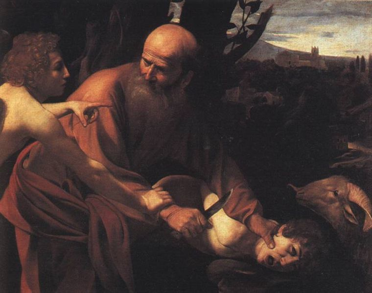 Image result for abraham sacrifice son in renaissance painting