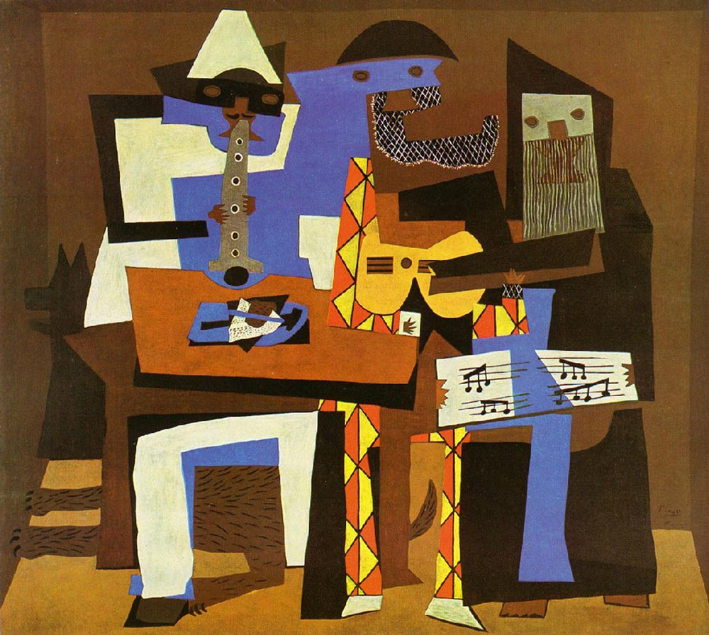 Image result for the three musicians picasso