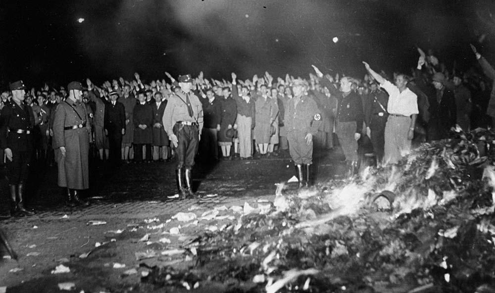 Image result for nazis burning books 1933