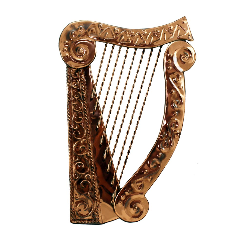 copper irish harp