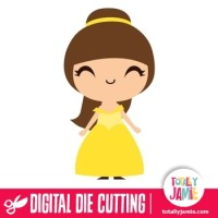 Cute Princess Belle - TotallyJamie: SVG Cut Files, Graphic ...