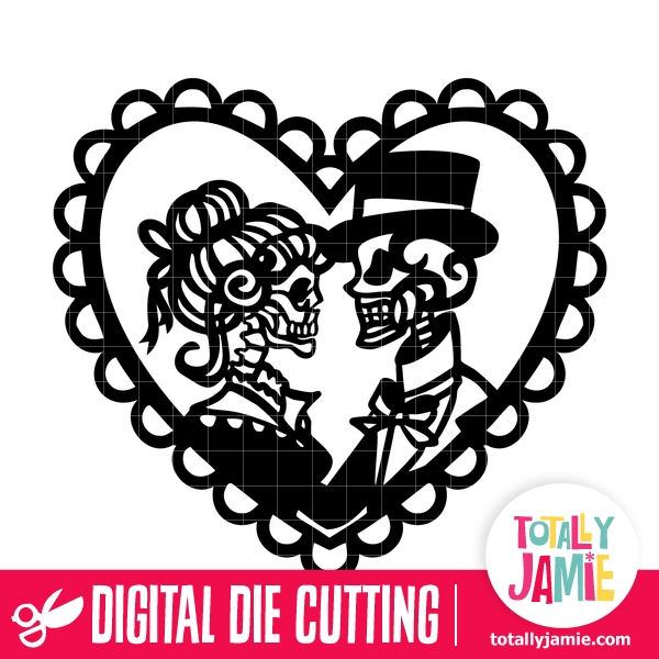 Download Gothic Victorian Couple Heart Lace - TotallyJamie: SVG Cut ...
