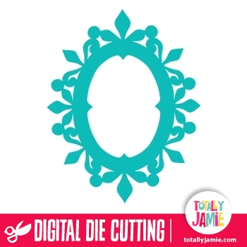 Ornate Oval Frame TotallyJamie SVG Cut Files Graphic