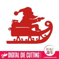 Santa Sleigh - TotallyJamie: SVG Cut Files, Graphic Sets ...