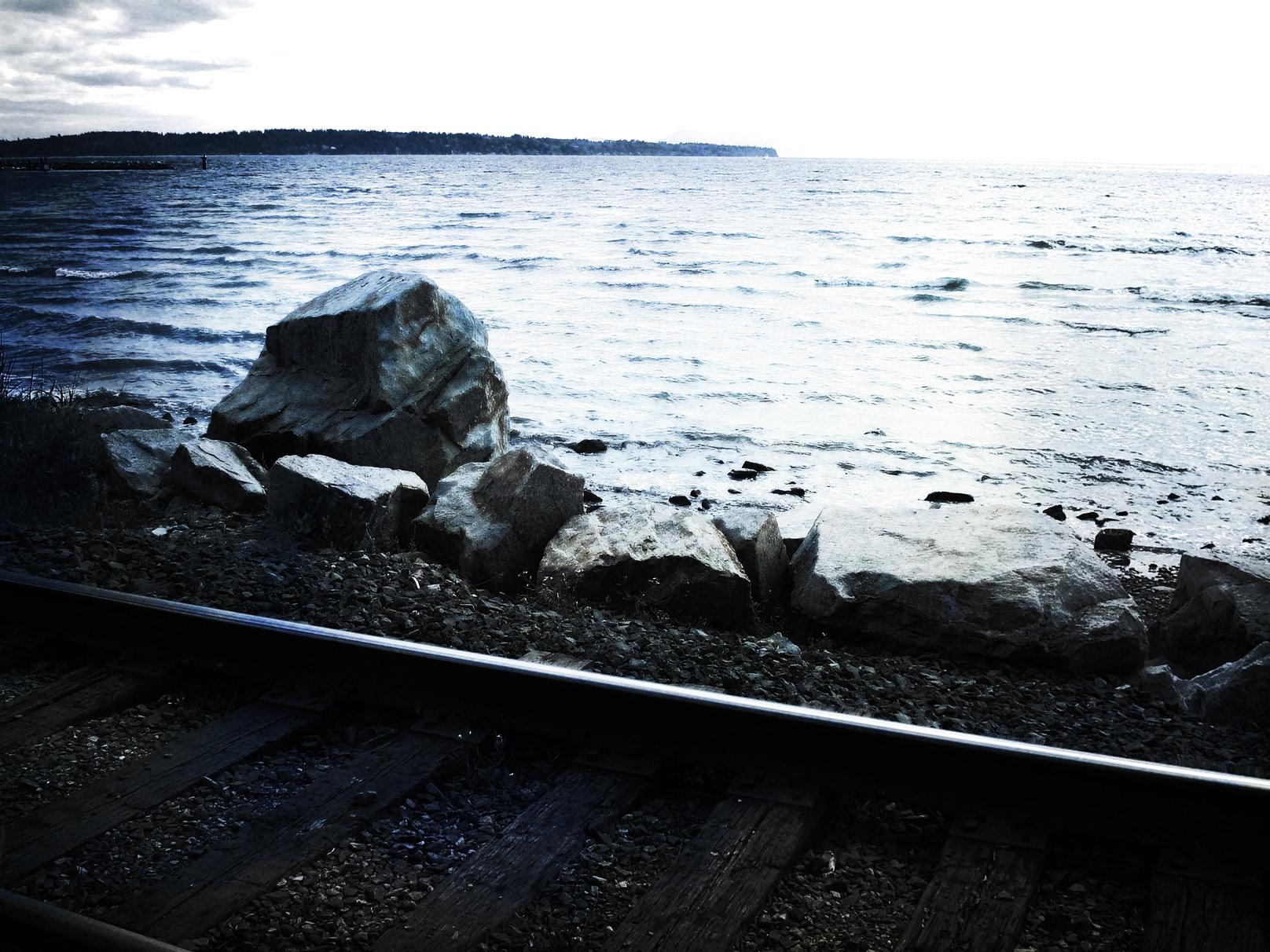 railway by the ocean