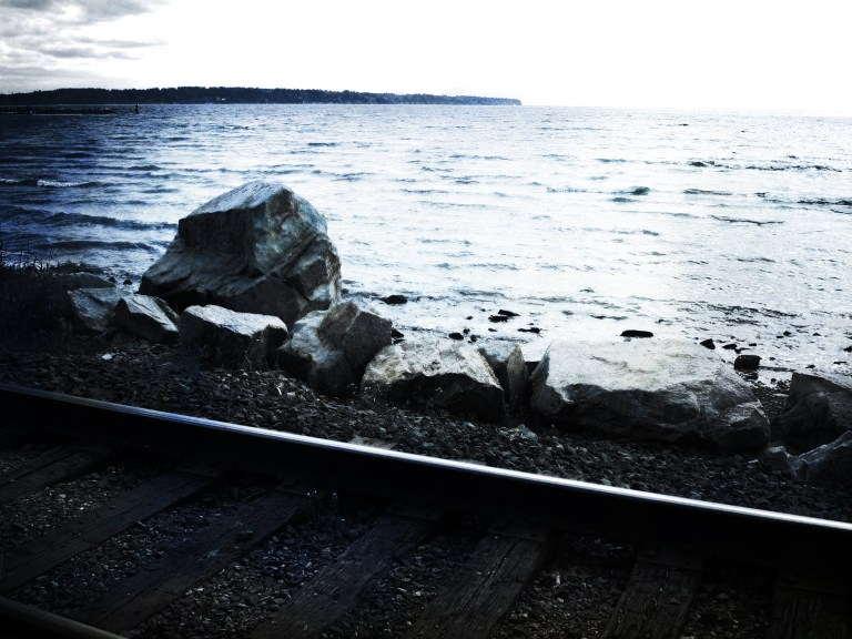 railway by the ocean