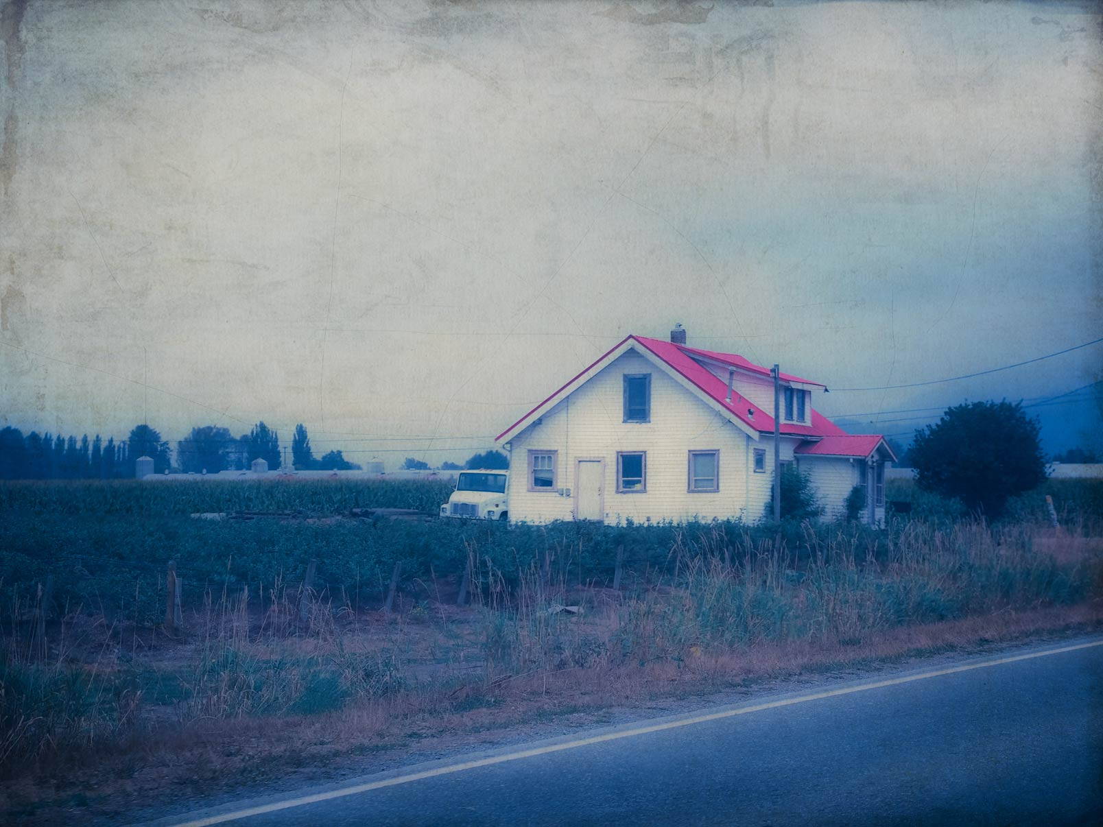 There is a house…