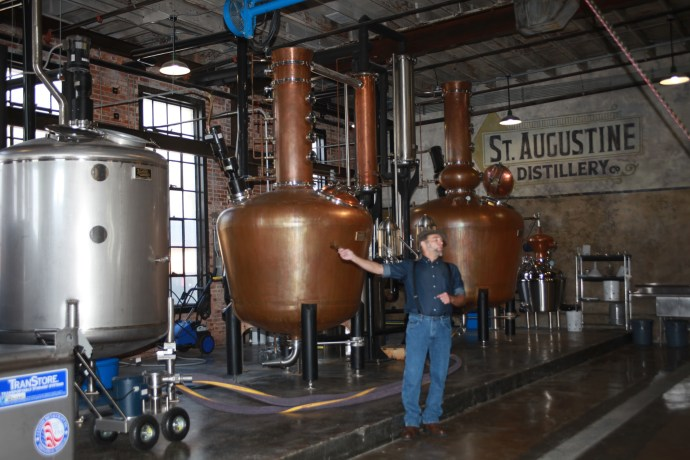 Free tours of the St. Augustine Distillery, 112 Riberia St., include a tasting of St. Augustine-made vodka and gin. Photo by Renee Unsworth