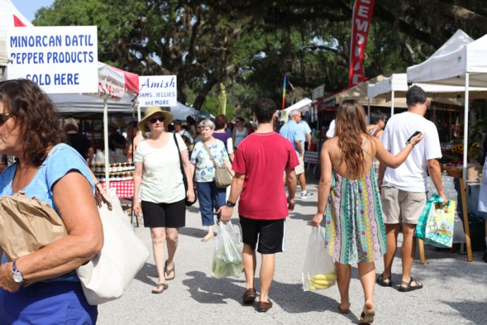 The Old City Farmers Market is held from