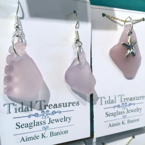 Sea glass jewelry will be featured at High Tide Gallery on March 26 during Uptown Saturday Night.