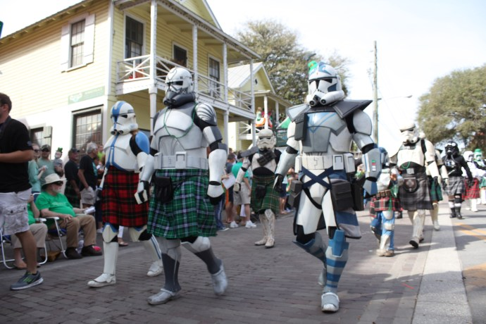 Stormtroopers wearing kilts were part of the 2016 St. Augustine St. Patrick's Day Parade. Photos by Renee Unsworth