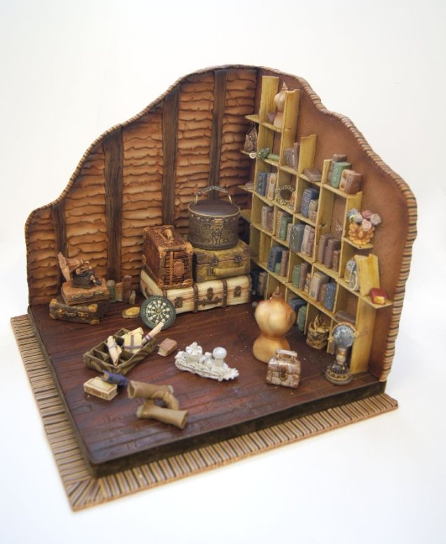 The Attic - a custom cake by Jacqui Kelly of Totally Sugar, London