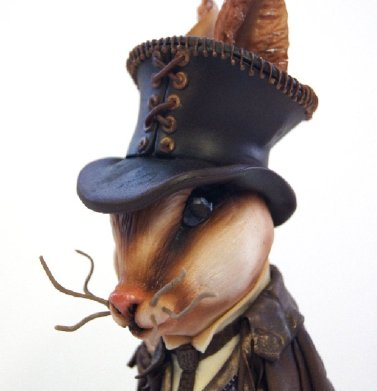 Lewis the Steampunk Rabbit - a custom cake by Jacqui Kelly of Totally Sugar, London
