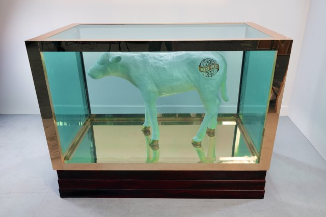 Damien Hirst's legendary artwork 'false idol' recreated using 480kg of saturated fat for World Meat Free Day top