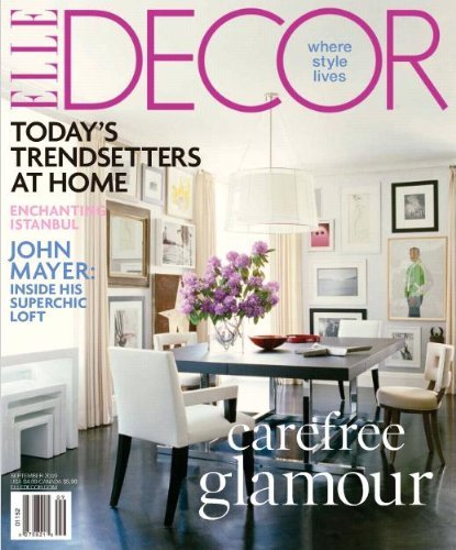Elle Decor Magazine 1year Subscription For $450