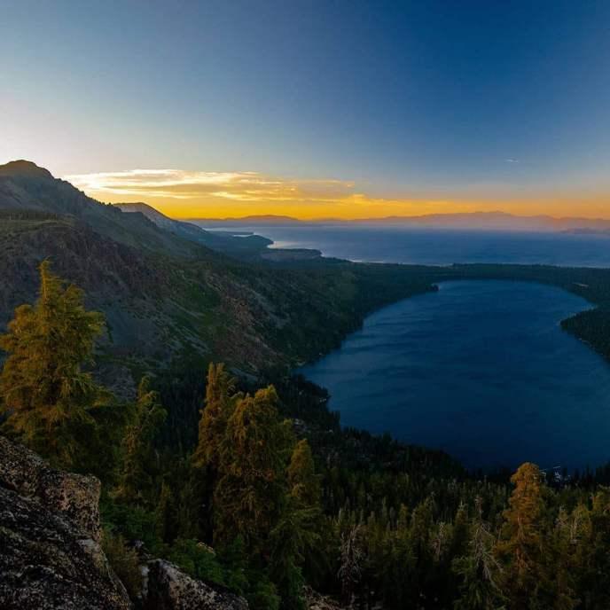 Sunset from Angora Peak.