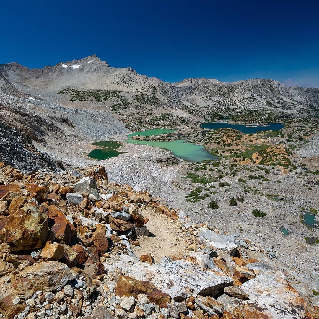What's your favorite color lake? Bishop Pass has got you covered.