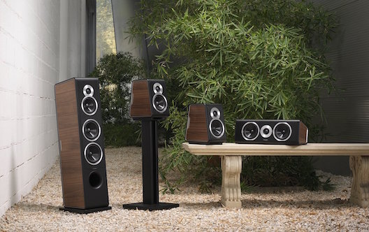 Sonus faber Chameleon speakers with walnut panels from Totally Wired