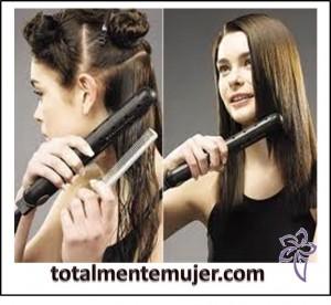 consejos para planchar el cabello correctamente