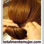 Peinado elegante y fácil con cabello largo