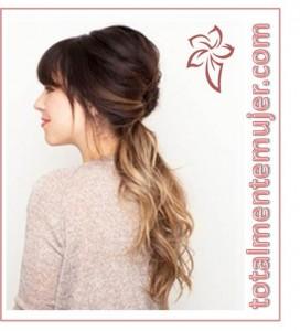 peinado facil elegante cabello largo
