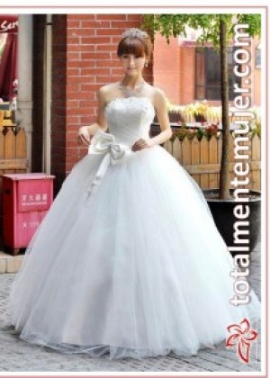 vestido de novia largo y amplio