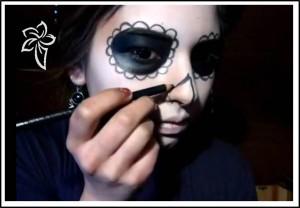 maquillaje halloween catrina