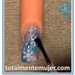 Uñas navideñas copos de nieve