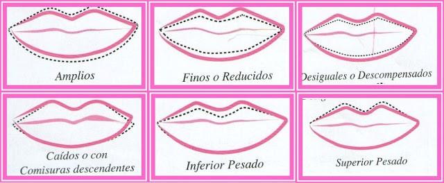 tipos de labios para maquillaje