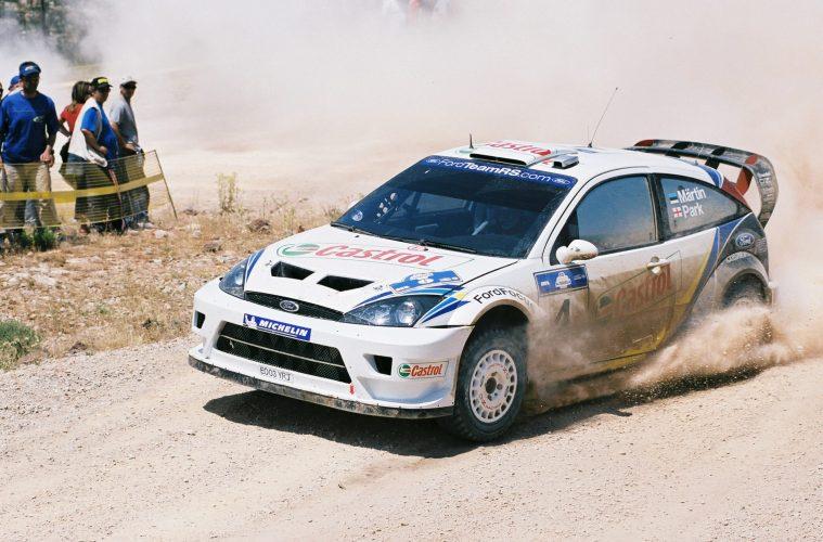 Ο Μ. Martin στο Rally Ακρόπολις 2003.