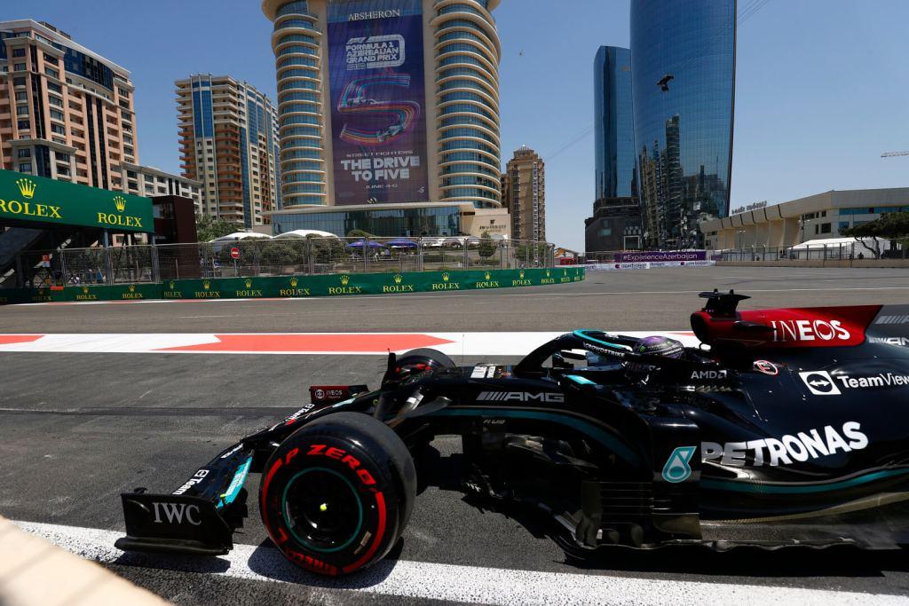 Lewis Hamilton Mercedes F1 Azerbaijan GP 2021 Qualifying
