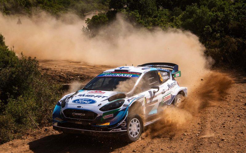 Teemu Suninen Rally Italia Sardegna Ford Fiesta WRC 2021 Crash