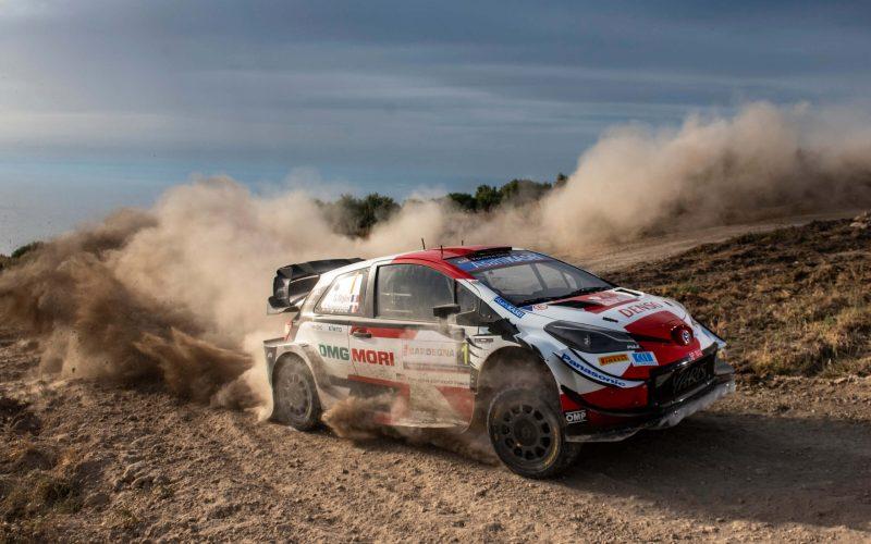 Sebastien Ogier Toyota Yaris WRC Rally Italia Sardegna 2021 Winner