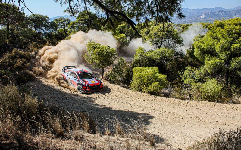 Dani Sordo Rally Acropolis 2021 Testing Hyundai i20 Coupe WRC