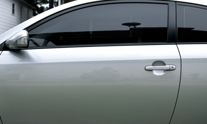 Car with Tinted Windows