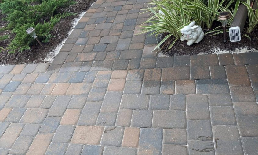 Partially Sealed Driveway Pavers