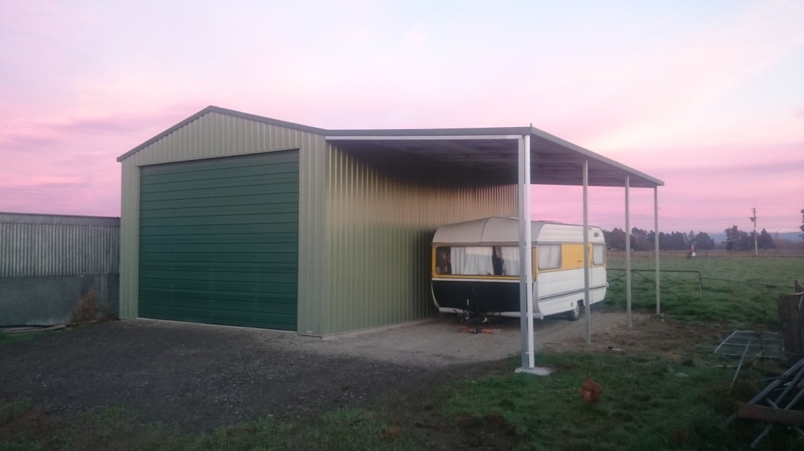 Awning Attached Garage Built For Life Totalspan New Zealand