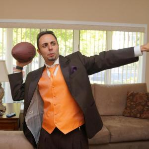 Scored 4 TD's for Polk High while wearing a tuxedo.