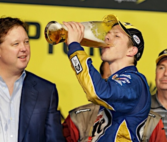 18 November 2012: Brad Keselowski wins the 2012 NASCAR Sprint Cup Series Championship during the Ford 400 at Homestead-Miami Speedway in Homestead FL. (HHP/Harold Hinson)