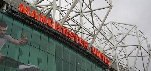 Exterior view of Old Trafford, home of Manchester United