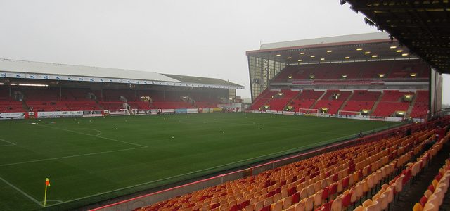 Pittodrie Stadium, home of Aberdeen