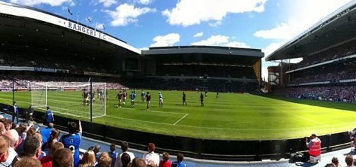 Ibrox Stadium, home of Scottish Premiership side Rangers