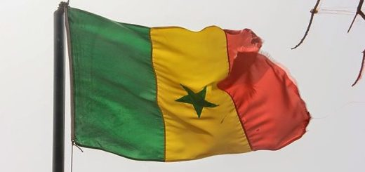 Flag of African country Senegal