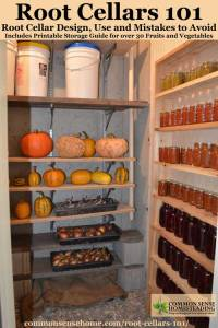 Root Cellars 101- Root Cellar Design, Use and Mistakes to ...